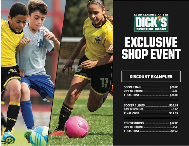 Dick's Sporting Goods Shopping Days Feburary 21st & 22nd